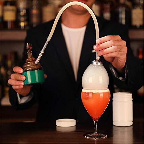 Renoble Rökpistol för bar cocktail mat rökare bärbar molekylär bubbla med vätska handhållen rökfusionstillbehör dekoration för drycker matlagning BBQ guld sous vid biff BBQ lax kök