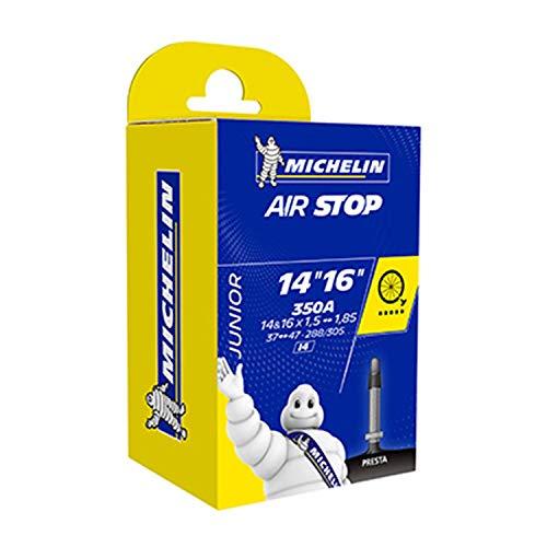 Michelin Airstop 350A 14&16x1.5-1.85 Cámara, Unisex Adulto, Negro, Talla Única