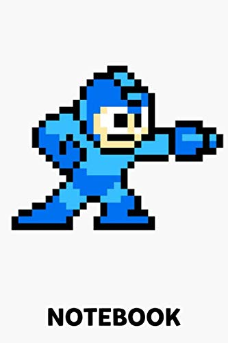 8-Bit Megaman Notebook: (110 Pages, Lined, 6 x 9)