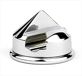 GBS Shaving Razor Stand. Single Razor Cone Style Holder. Heavy Duty Chrome Base Protective Bottom. Fits Most Name Brand Razors. Manual, 5 and 3 Blade. Polished Steel Matches Any Grooming Supplies