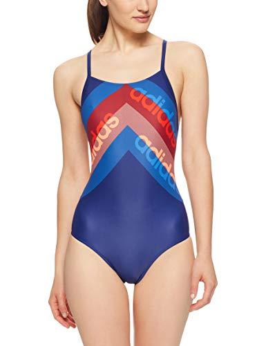 adidas Fit 1Pc Lin Bañador, Mujer, Azul (Azuosc/Naalre), 36