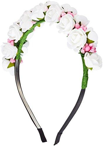 Katara Boho Blanc Motif guirlande de fleurs Bandeau