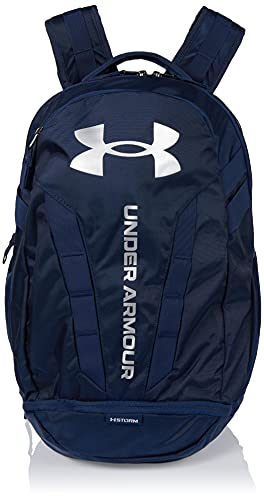 Under Armour Hustle Backpack, Academy (408)/Silver, One Size Fits All