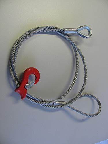 Cable Choker 3m, 12mm, Cuerda Forestal, Patina, Ganchos de Deslizamiento