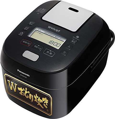 パナソニック 炊飯器 5.5合 圧力IH式 Wおどり炊き ブラック SR-SPA109-K