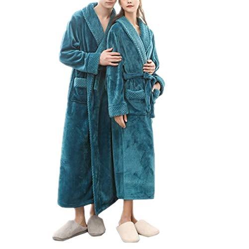 FHISD Pijamas Populares de camisón de Invierno para Mujer, Pijamas cálidos de Lujo para Mujer, Albornoz de Terciopelo, Regalos de Invierno