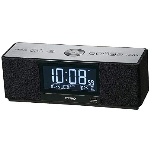 セイコー クロック 目覚まし時計 マルチサウンドクロック スピーカー ラジオ聴取 アラーム デジタル Bluetooth 黒 SS501K SEIKO