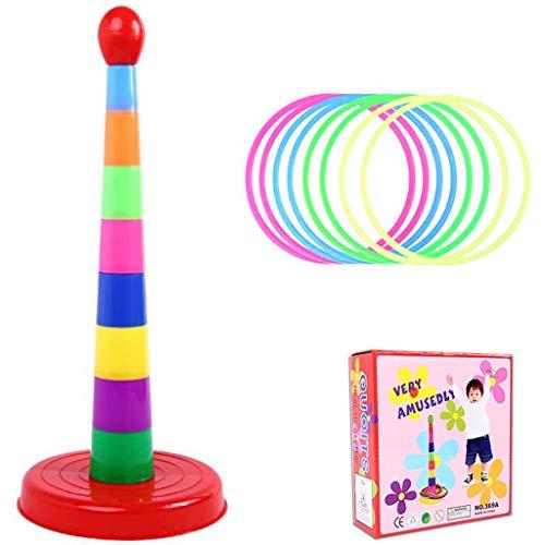AILSAYA Plastic Toss Rings Set Ring Toss, Game Intelligence Development Bunte Hoopla Cast Circle Sets Lernspielzeug Puzzlespiel Für Kinder Und Erwachsene Weihnachten Outdoor Indoor Games