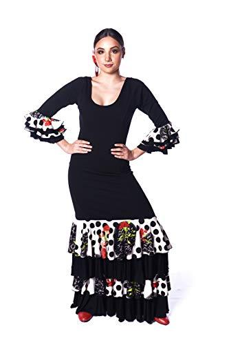 Professionele jurk van Anuka voor Flamenco, dans, elastisch en hoogwaardig, past zich zeer goed aan het lichaam aan. Gemaakt in Spanje.