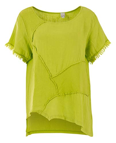 Liberty Woman Patch-Look Bluse in Lime