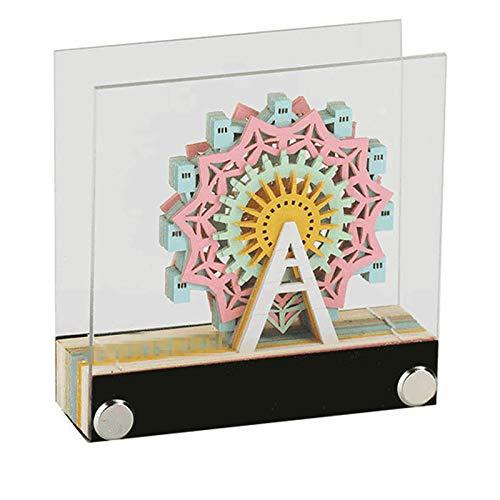 TWW Notas De Los Niños De La Arquitectura del Paisaje del Cuaderno 3D, Notas Magnéticas del Borrado En Seco De Bricolaje, Color De Los Niños Hechos A Mano