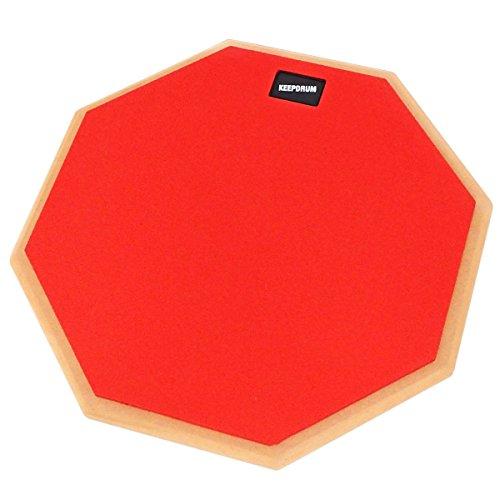 Keepdrum DP-RD12 Drum Practice Pad, cuscinetto di allenamento, rosso, 30,5 cm