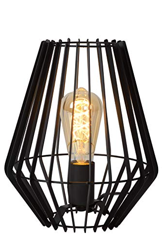 Lucide REDA - tafellamp - E27 - zwart