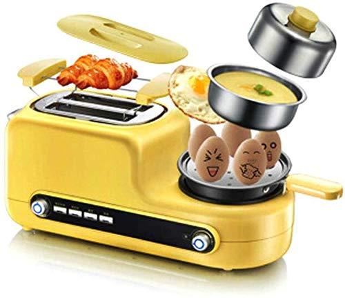 GJJSZ Automatische 3 In1 Breakfast Maker Toaster Bratpfanne Brei Kochen Eierkessel 6 Gangeinstellung mit Edelstahlschale