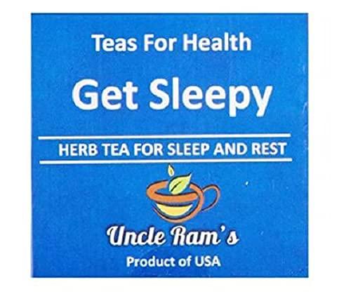 UNCLE RAM'S Get Sleepy (HERB TEA PARA DORMIR Y RESTA) (14 bolsas de té) 19.6G – Una taza de Rooibos orgánica calmante manzanilla, pasión y valeriana te da ese sueño relajante y relajante
