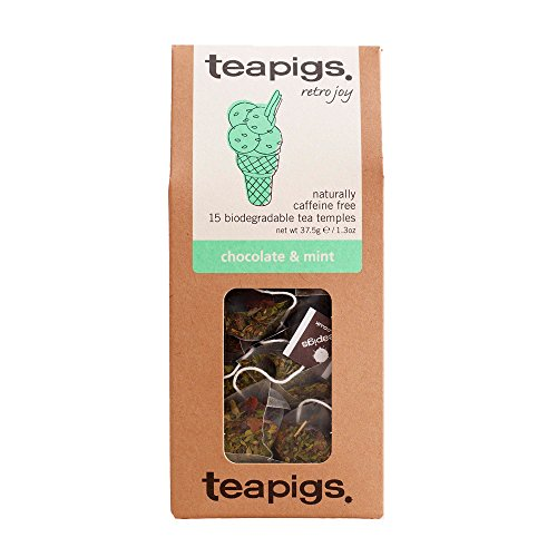 teapigs Chocolate and Mint Tea Temples (Pack of 3, Total 45)