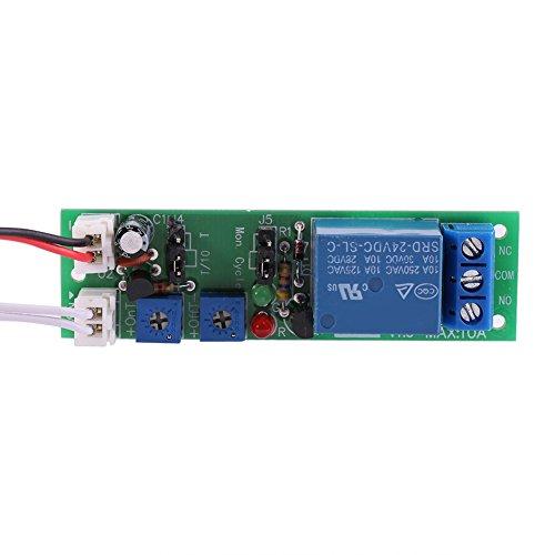 Interruptor de relé de temporizador de retardo opcional de 6 tipos Módulo de relé de temporizador de ciclo 1 pieza eléctrico para retardar y retransmitir(DC 24V 0-15 minutes adjustable)