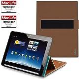 Hülle für Medion Lifetab X10302 Tasche Cover Case Bumper | Testsieger | Braun