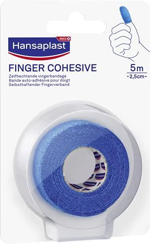 Hansaplast Haftband 5 m x 2,5 cm, blau, extra komfortabel, flexibles Klebeband, handzuschneidbar, latexfrei und Kleberrückstände