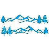 SHSYO Calcomanía de Coche Etiqueta engomada del Coche 4X4 Off Road Graphic Vinyl Decal Auto Accesorios Azul