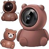 DSMGLRBGZ Vigilabebés, Vigilabebes con Camara Camara Bebes Vigilancia WiFi 1080P Mini Cámara Interior Remota para Ve A La Cama Seguridad,A