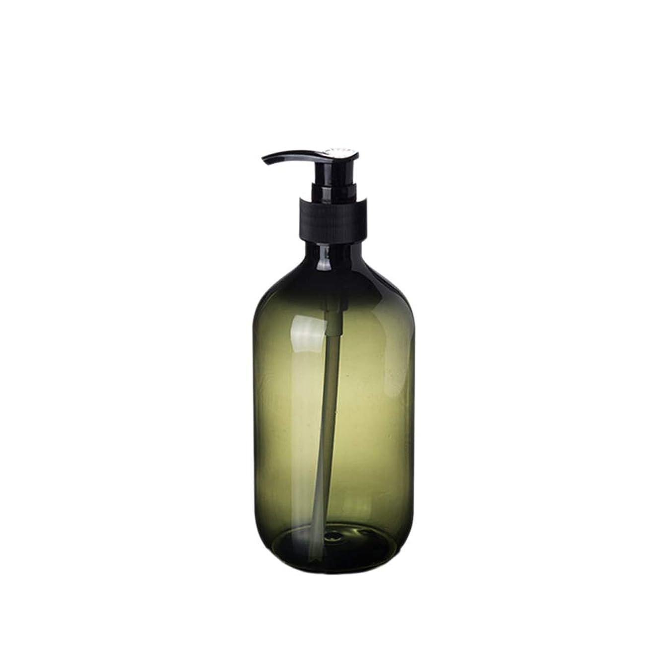 実際にスライステナントBeaupretty 2本入りシャンプーボトル詰め替え式ソープディスペンサーボトル300ml(グリーン)