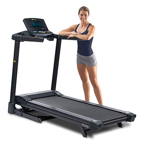 "LifeSpan TR1200i Color Folding Charcoal Treadmill | Full-Color 7"" Display 