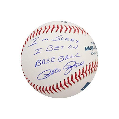 """Pete Rose""""I'm Sorry I Bet On Baseball"""" Autographed Official MLB Baseball - JSA COA"""