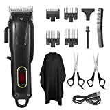 Clippers for Hair Cutting Cordless with 4 Guards, Rechargeable Hair Trimmer for Men Low Noise, Professional Hair Cutting Kit for Short Hair, USB Universal Charging Hair Cutter Grooming Kit-Black