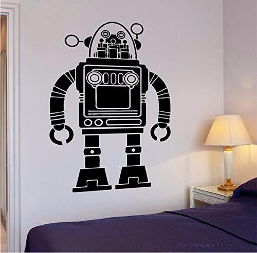 Pbbzl Muursticker, motief robot Transformer Pop Art Kid voor de woonkamer muursticker voor kinderkamer decoratie voor huis kinderkamer kinderkamer muursticker 56 x 88 cm