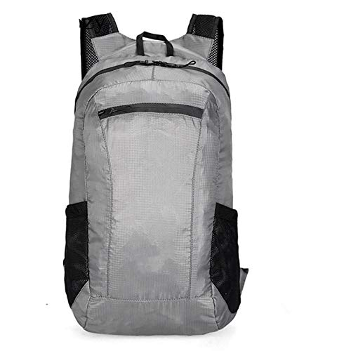 Sports backpack Unisex Outdoor Waterproof Backpack Foldable Portable Bag 20L Light Sports Folding Pack Men Women Trekking Camping Bags sports backpack for men backpack waterproof LightGray