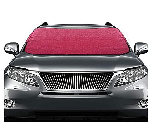 DYHH Auto-Schneeabdeckung Sonnenschutz-Isolierung Vorhang Frontscheibe Beschattung Matte Außenzubehör Auto-Abdeckung Sonnenschutz Markisen (Color : Red)