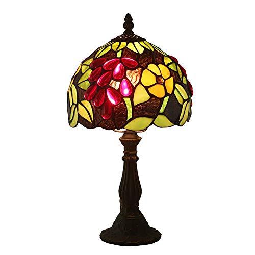 HDDD lampenkap van glas met UVA-bloem, tafellamp in Tiffany-stijl, personaliseerbaar met 8 inch, geschikt voor slaapkamer, woonkamer, binnenverlichting, tafellamp, decoratie