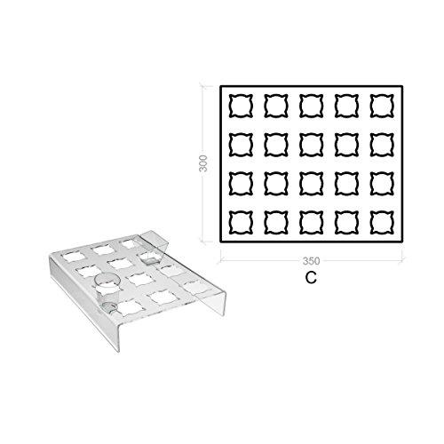 Avà srl Support plexi crème glacée – 20 compartements - Dimensions: 35x30x H5 cm