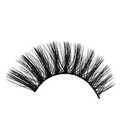 TOWAKM Wimpern, 3 Paare 3D Lange Falsche Wimpern Make-Up NatüRliche GefäLschte Thick Black Eye Lashes