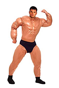 Forum Novelties Men s Mister Muscles Padded Weightlifter Costume Multi Standard