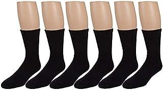 Men's Diabetic Socks, Loose Crew Fit For Better Circulation -6 or 12 Pack -Zeke