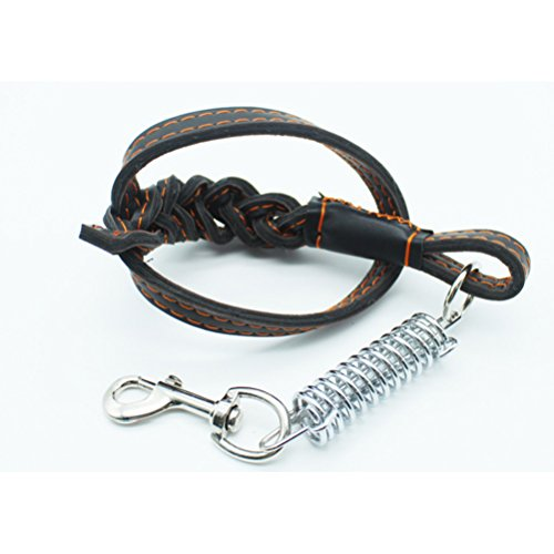 Zhhlinyuan Pet Chain Dog Zugseil Wear Durable And Comfürtable PU Leather Seil für Medium And Large Dogs