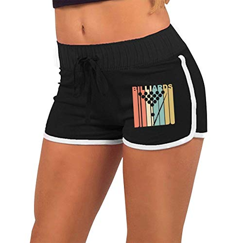limeiliF Shorts de Yoga et Pilates Femme Vintage Style Retro Style Billard Femmes Low-Rice Stretchy Sexy Sport Workout Running Shorts Hot Pants
