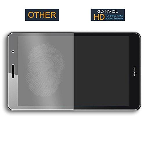 Ganvol Panzerglas für Huawei MediaPad T3 8 WiFi 20,3 cm (8,0 Zoll) Schutzfolie Huawei MediaPad T3 8 LTE 20,3 cm (8,0 Zoll) Panzerfolie Hartglas Glasfolie Glas Folie Panzerglasfolie - 4