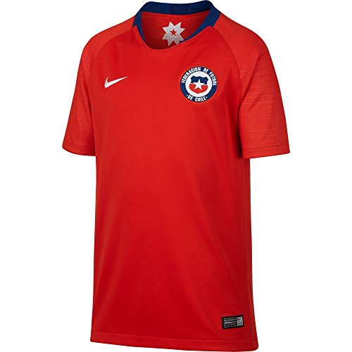 Nike 2018 Youth Chile Home Jersey- Red YL