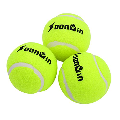 Alomejor 3 Stücke Tennisball Fluoreszierende Gelbe Prctice Bälle für Spaß Tennis – Cricket – Kinder – Hunde