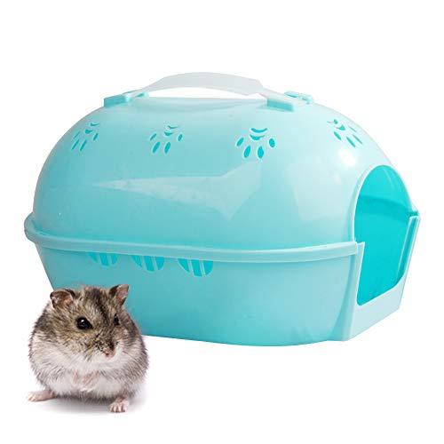 PETAMANIM Jaula para Hámster, Hamster Portátil Hábitat, Ligera Carrier Sirio Gerbil del hámster Enano hámster Pequeño Animal House