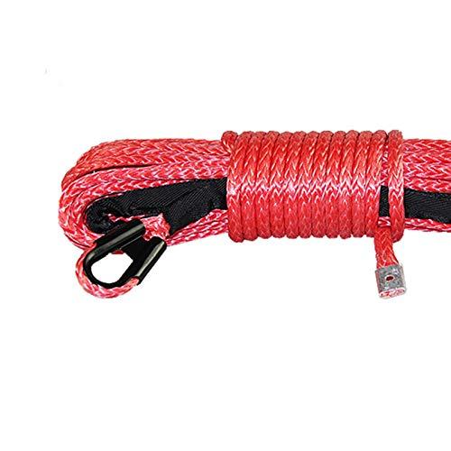 MINGMIN-DZ Cuerda de cabrestante 10MMX26M Cuerda De Cuerda Cuerda Fuerte Trailer Fuerte Cuerda Cuerda ATV Tracción Cuerda Accesorios de cabrestante (Color : Red, Size : 10mmX25M)