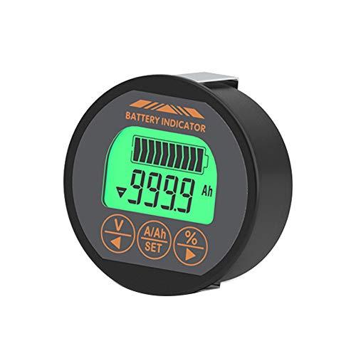 Yisily Capacidad De La Batería Probador Metro Monitor De Energía Voltímetro Indicador Amperímetro para La Motocicleta (tr16 120v 50a)