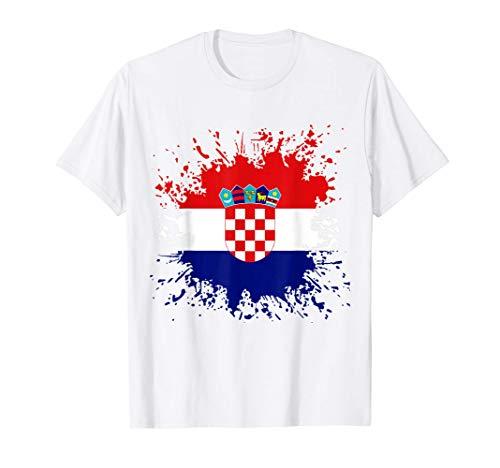 Kroatien Flagge Kroatische Fahne Kroate Kroatin T-Shirt