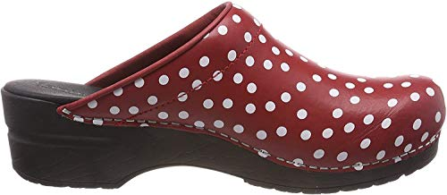 Sanita Damen Fenja Open Clogs, Rot (Red 4), 39 EU