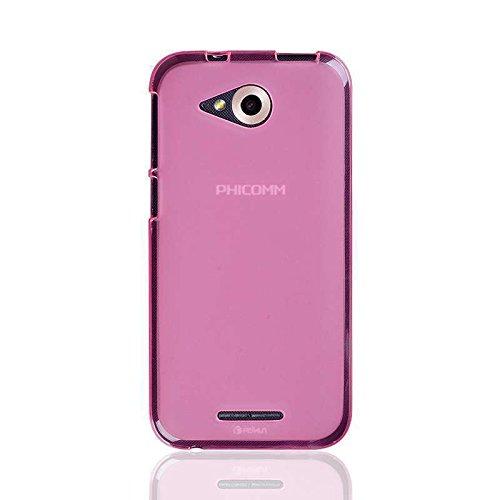 caseroxx TPU-Hülle für Phicomm Clue M, Handy Hülle Tasche (TPU-Hülle in pink)