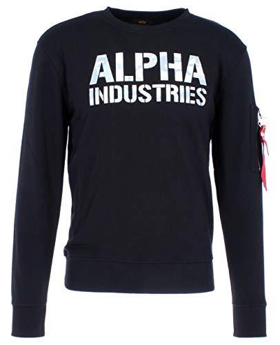 Alpha Industries Sweat imprimé camouflage,Noir/Blanc,M