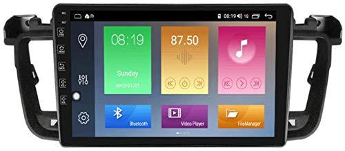 WYFWYT Sistema Android Autoradio para Peugeot 508 2011-2018 con Multimedia Player Estéreo GPS Navegación Radio Bluetooth USB Mirror Link,4g+WiFi:2+32g